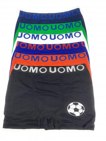 6 Stück Jungen Kinder Unterhosen Retro-Pants Boxer Shorts Schlüpfer UOMO Sportunterwäsche 104-164
