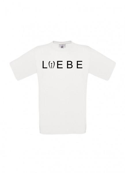 Männer T-Shirt - Liebe & Leben - S-XXXL 100% Baumwolle ÖkoTex Handmade - weiss