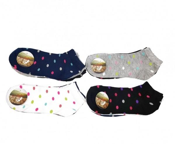 6 Paar Damen Sneaker Socken Kurzsocken verschiedene Designs - one size