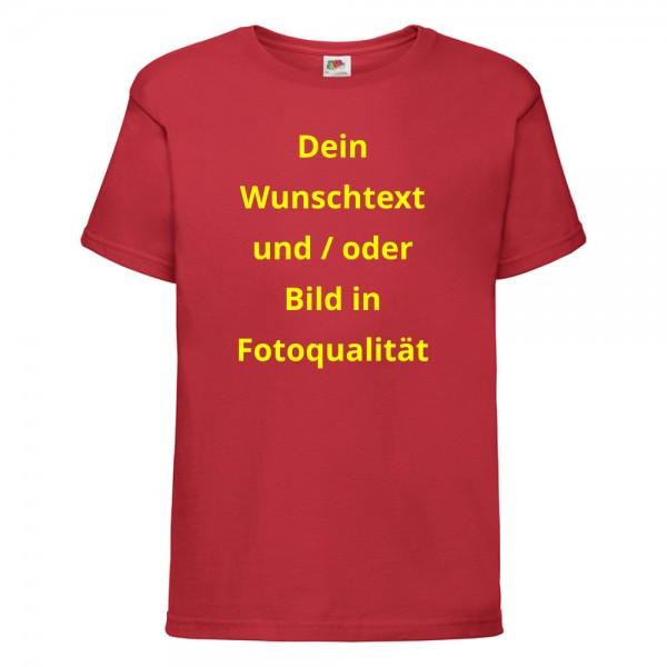 Kinder T-Shirt mit Wunschtext - rot
