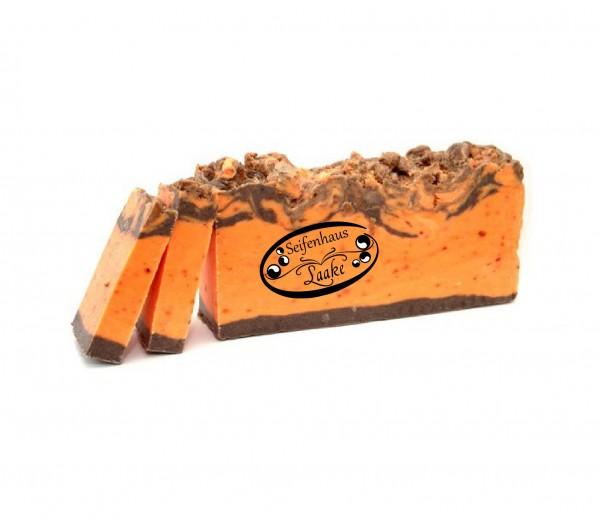 Pflanzenölseife - Orange mit Zimt von Seifenhaus Laake