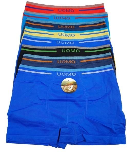 4 Jungen Retro Boxershorts UOMO Mikrofaser Kinder Unterhosen Microtouch