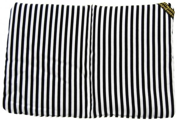 2-Kammer Rapskissen Streifen schwarz-weiss
