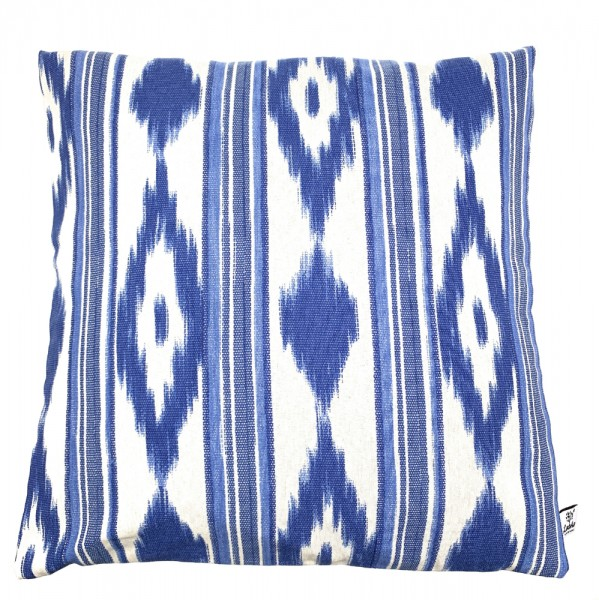 Kissenbezüge Mallorca blau Zungenstoff Kissenhülle 40 x 40 cm 100 % Baumwolle mit Reißverschluss