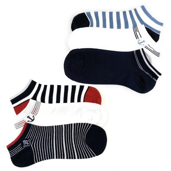 6 Paar Herren Sneaker Socken Premium Kurzsocken Bambussocken Maritim handgekettelte Spitze