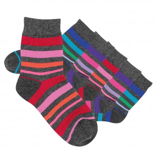 Jungen Socken 6 Paar handgekettelt Spitze,weiche Naht,Baumwolle