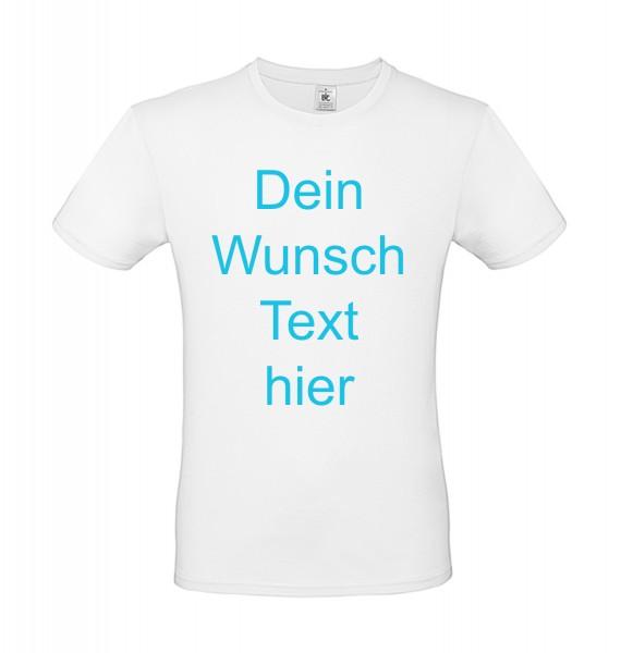 T-Shirt bedrucken - vorne oder hinten Text / Logo individuell auf Ihr T-Shirt Drucken lassen - weiss