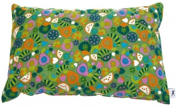 Zirbenkissen gefüllt mit Tiroler Zirbenholzspänen 30 x 20 cm Design: Tutti Frutti - Aromkissen