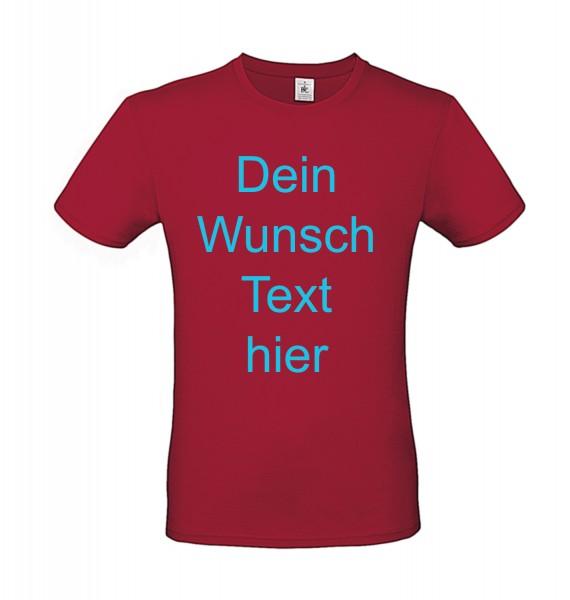 T-Shirt bedrucken - vorne oder hinten Text / Logo individuell auf Ihr T-Shirt Drucken lassen - rot